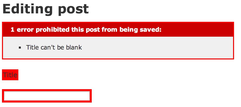 Rails validation error